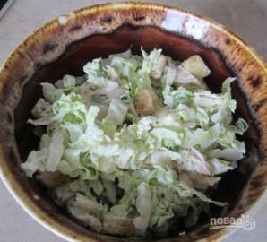 Салат из пекинской капусты и курицы - фото шаг 6