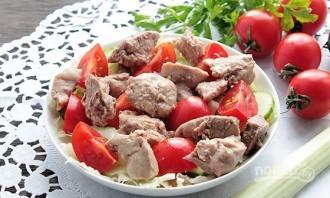 Салат из печени трески с яйцом - фото шаг 7