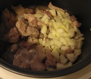 Пшеничная каша с соевым мясом и овощами - фото шаг 1