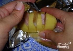 Картофель с беконом в фольге - фото шаг 6