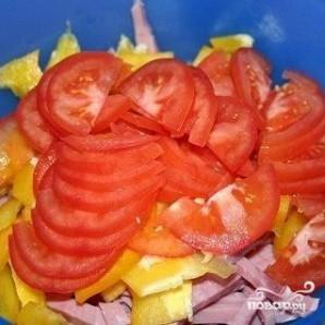 Итальянский салат с сыром и макаронами - фото шаг 3