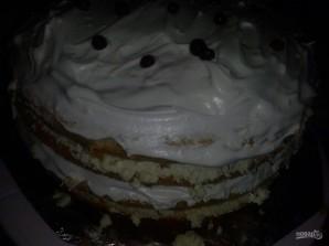 Большой бисквитный торт с безе - фото шаг 13