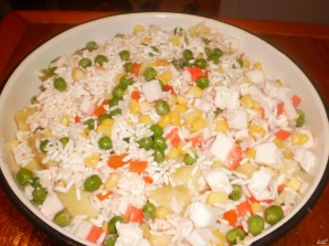 Постный салат с крабами - фото шаг 1