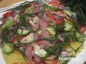 Салат со скумбрией - фото шаг 2