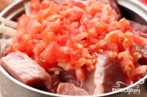 Шашлык из свинины с помидорами - фото шаг 2