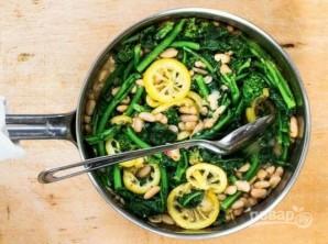 Овощной салат с белой фасолью - фото шаг 5