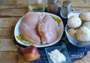 Запеченные блины с курицей и шампиньонами - фото шаг 8