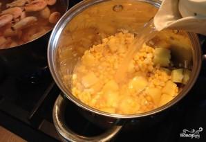 Кукурузный крем-суп с креветками - фото шаг 3