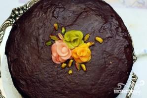 Фисташковый торт с марципаном и шоколадной глазурью - фото шаг 6