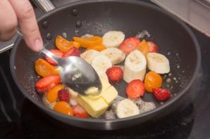 Блинчики с фруктами - фото шаг 7