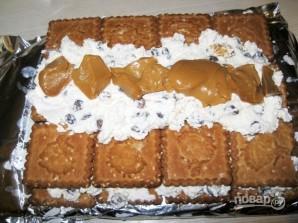 Торт с печеньем и творогом - фото шаг 6