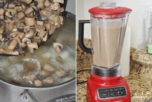 Грибной крем-суп из шампиньонов со сливками - фото шаг 6