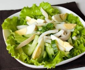 Салат с кальмарами и огурцом - фото шаг 4