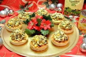 Волованы с салатом из кукурузы и грибов - фото шаг 24