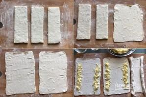 Хачапури по-аджарски из слоеного теста - фото шаг 2