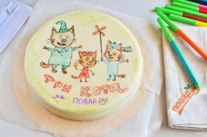 """Торт """"Три кота"""" - фото шаг 15"""