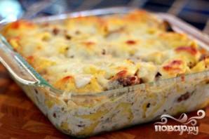 Колбаса с грибами и тортеллини - фото шаг 8