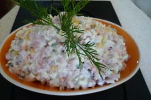 Салат Оливье с копченой колбасой - фото шаг 3