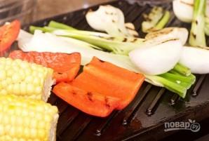 Курица на гриле с овощами и соусом барбекю - фото шаг 9