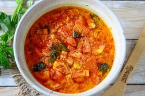 Томатный суп из печки с базиликом - фото шаг 8