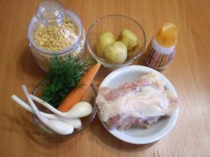 Гороховый суп с курицей в мультиварке - фото шаг 1