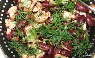 Теплый салат со свининой - фото шаг 3