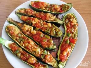 Цуккини, фаршированный томатом и стручковой фасолью - фото шаг 6