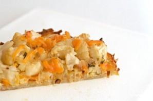 Пирог с картофельной корочкой, цветной капустой и сыром - фото шаг 5