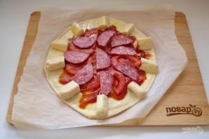 Пицца с сырными булочками - фото шаг 13