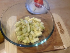 Салат с пастой, баклажанами и брынзой - фото шаг 3