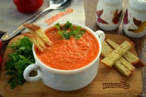 Томатный суп с чесночными гренками - фото шаг 5