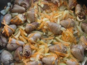 Жареные куриные сердечки - фото шаг 4