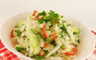 Салат из пекинской капусты с огурцом - фото шаг 8