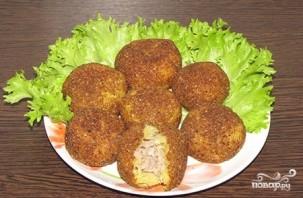 Картофельные шарики с фаршем - фото шаг 8