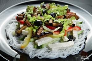 Салат с рисовой лапшой - фото шаг 6