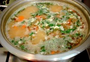 Гороховый суп с сосиской - фото шаг 9