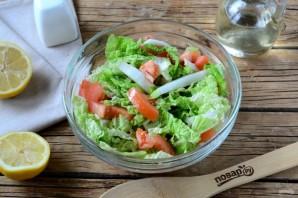 Салат из пекинской капусты и помидоров - фото шаг 5