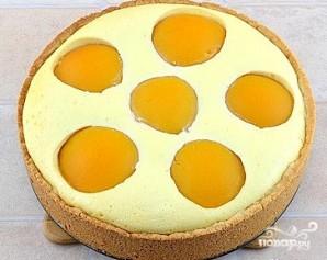 Творожный пирог с персиками - фото шаг 8