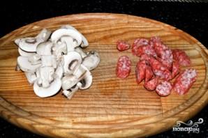 Сырный суп с шампиньонами и копченостями  - фото шаг 3