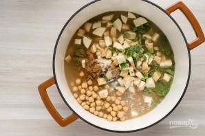 Суп-пюре из горошка и нута - фото шаг 6
