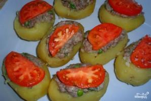 Картофельные лодочки с фаршем - фото шаг 4