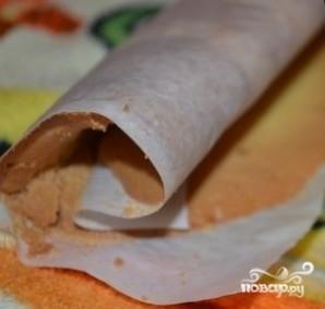 Мини-рулеты бисквитные - фото шаг 4