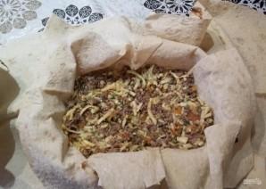 Яично-мясной тортик со вкусом шавермы - фото шаг 10