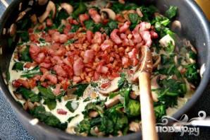 Запеченные яйца со шпинатом, грибами и беконом - фото шаг 5
