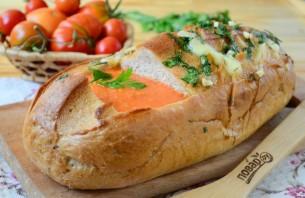 """Томатный суп в хлебе """"Ежик"""" - фото шаг 9"""