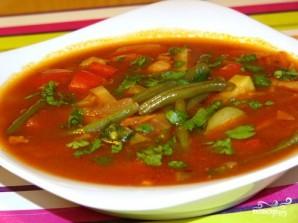 Суп с зеленой фасолью - фото шаг 8