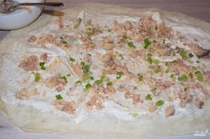 Лаваш с рыбой и сыром - фото шаг 3