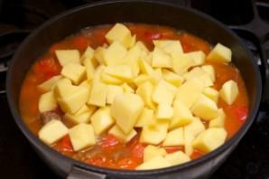 Гуляш из говядины с картошкой - фото шаг 8