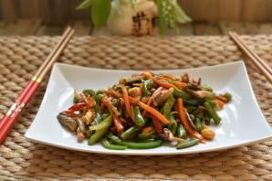 Стир-фрай из вешенок с морковью и овощами - фото шаг 12