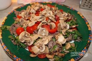 Салат с мясом грибами и сыром рецепт с фото пошагово - 1000 31